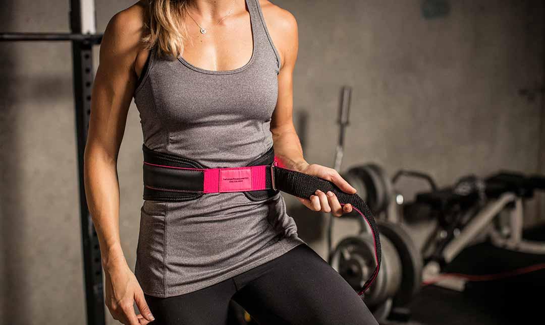 Dámsky fitness opasok Foam Pink - Harbinger