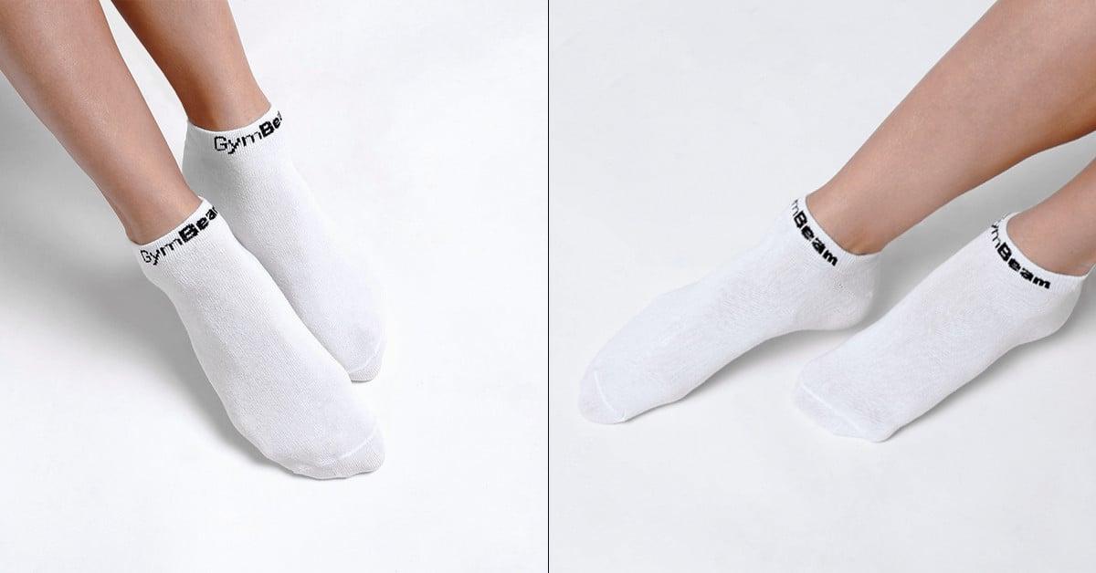 Ponožky Ankle Socks 3Pack White - GymBeam