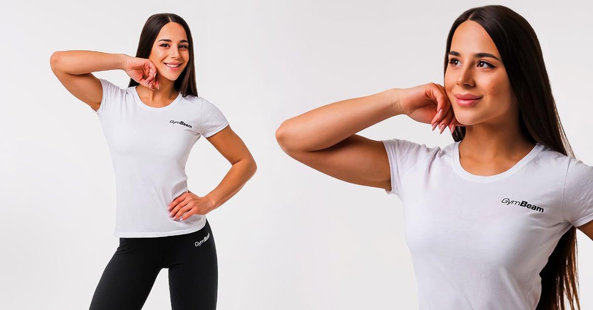Dámské tričko Basic White - GymBeam
