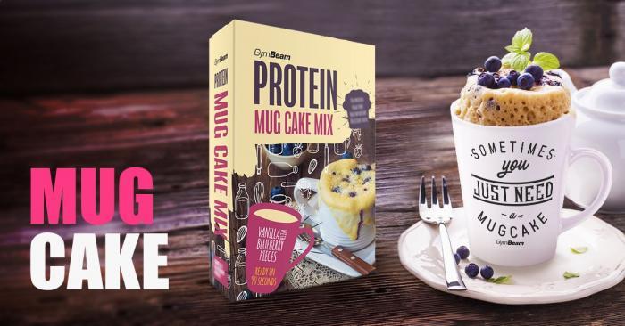 Proteinový Mug Cake Mix - gymbeam