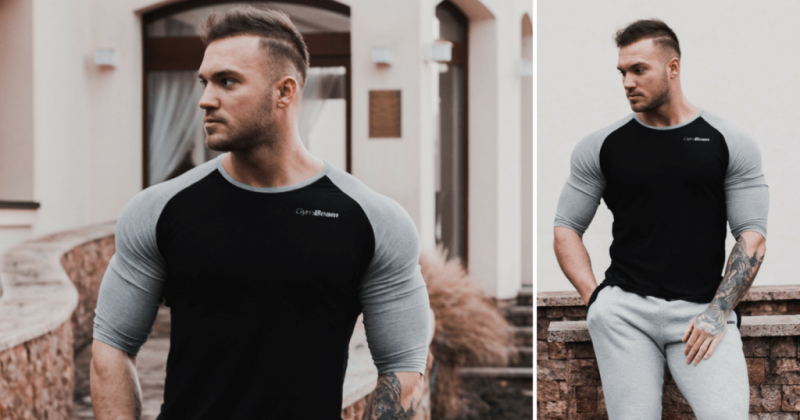 T-shirt Fitted Sleeve GymBeam