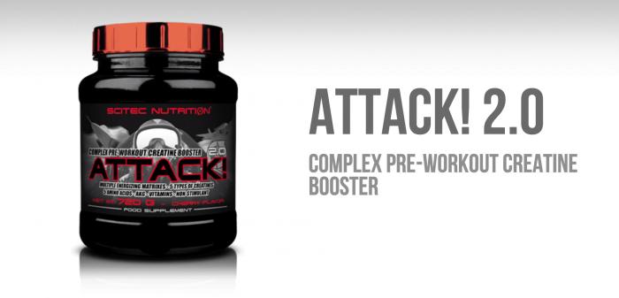 Pre-workout formula Attack! 2.0 - Scitec Nutrition | GymBeam.com