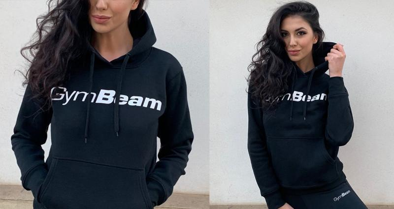 Női pulóver Athlete Black GymBeam