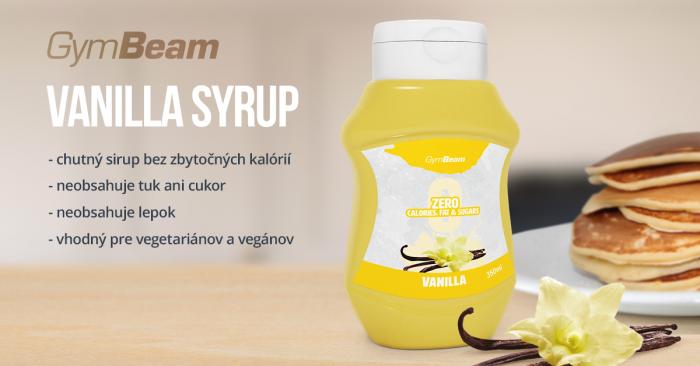 Bezkalorický sirup Vanilka 350 ml - GymBeam