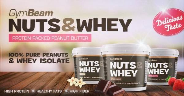 Arašídové máslo Nuts & Whey GymBeam
