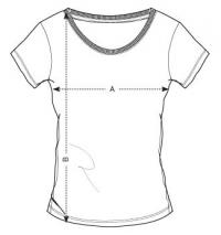 Women's T-shirt The Best Version Deep Navy Pink - GymBeam