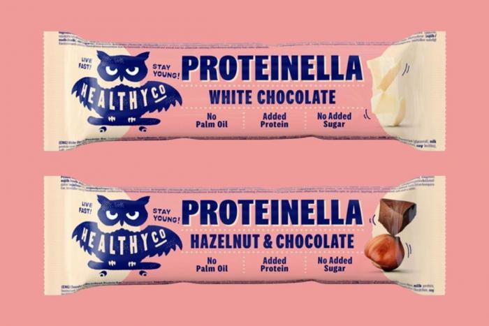 Tyčinka Proteinella bar - HealthyCo | GymBeam.cz