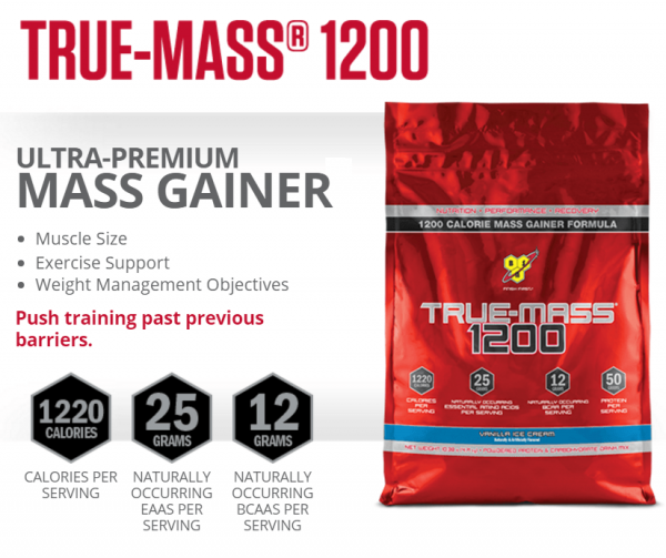True Mass 1200 bsn gainer
